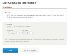 edit campaign info
