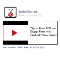 Engage Users with Facebook Video Feature