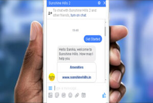 Facebook Chat bot messenger for real estate