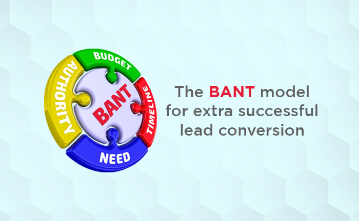 BANT model for qualifying leads